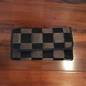 Checkered ribbon wallet